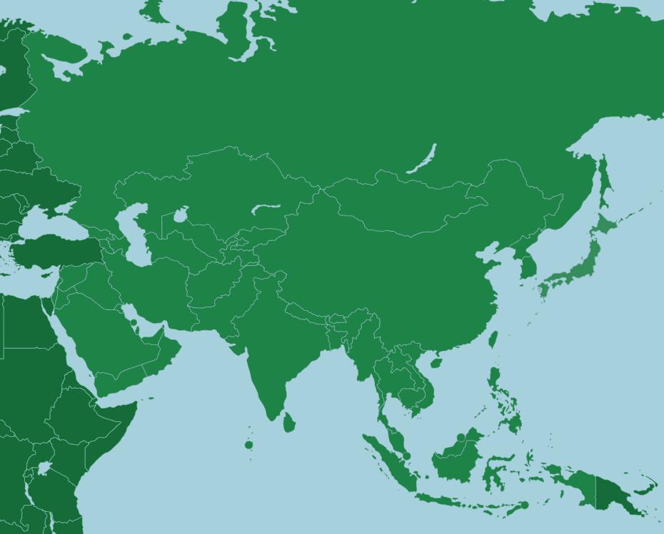 Hur många länder finns det i Asien