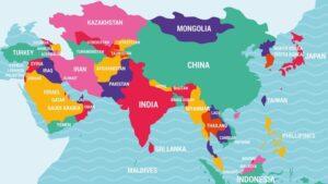Asiens 10 Största Länder efter folkmängd och yta