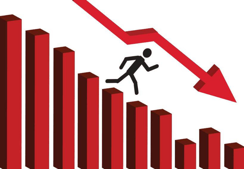 aktieportföljer - börsen faller