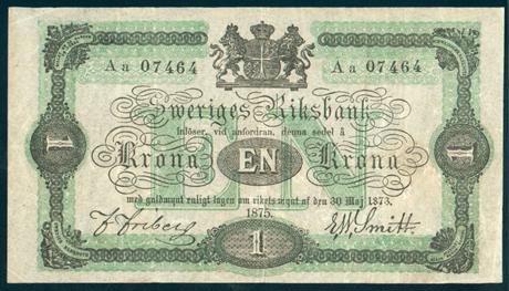 En krona från 1875.
