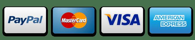paypal visa master card amex